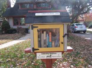 Neighborhood Lending Library...great idea!